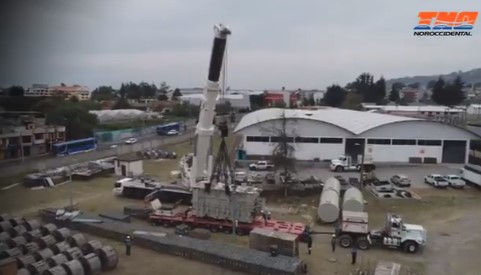 Embarque, transporte y posicionamiento final de transformador de 150 MVA y PBV 160 ton Cuenca