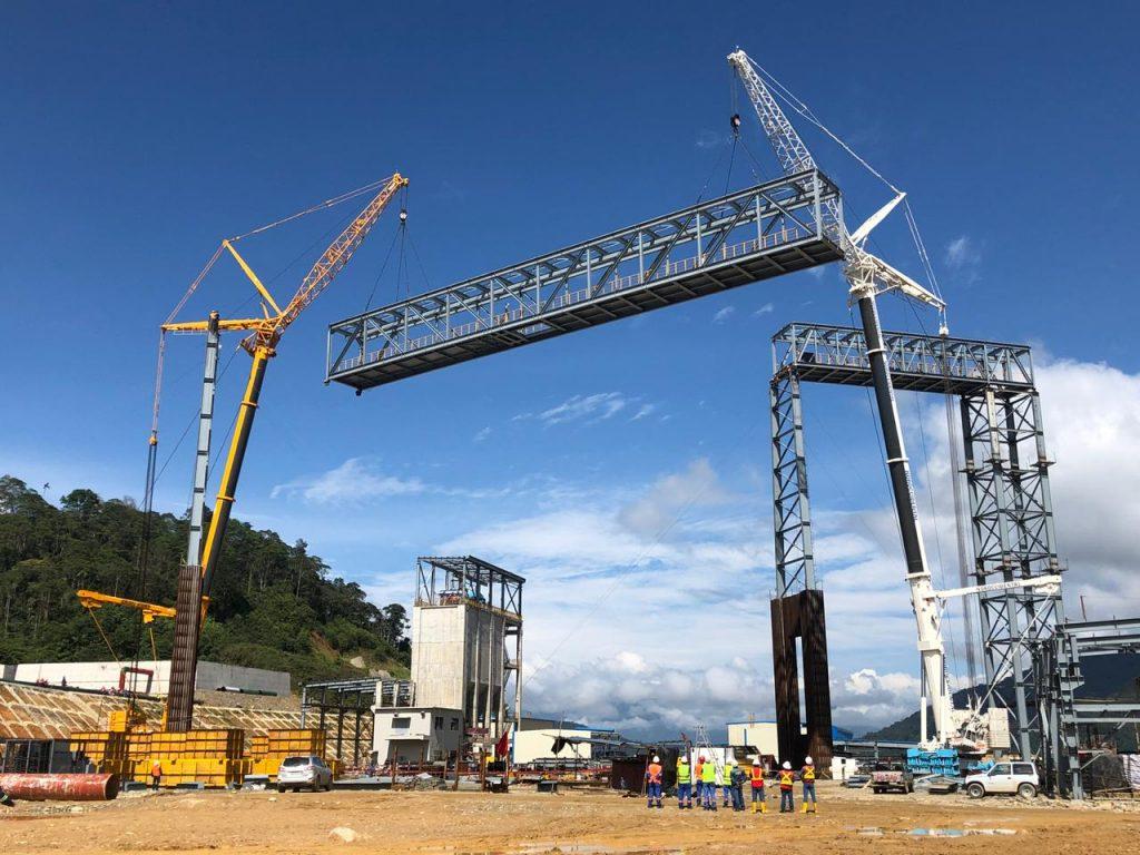 Montaje Banda Transportadora peso total 220 ton