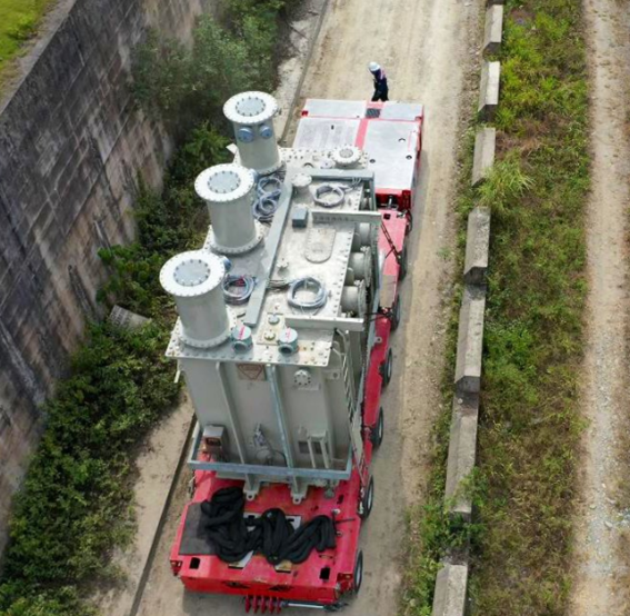 Mobilization and final positioning of 3 Power Transformers